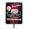 Black Country Metal Works Le Milleur Sandwich Advert Wall Hook