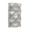 Bungalow Rose Sonderborg 1-Light Wall Sconce with Seeded Water Glass