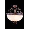 Elegant Lighting Troy 3-Light Bowl Pendant