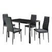 Home & Haus Kaela Dining Set with 4 Chairs