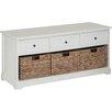All Home Garderobenbank mit Stauraum aus Holz