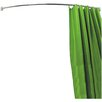 House Additions 196cm Adjustable Curved Fixed Shower Curtain Rail