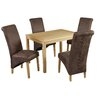 LPD Oakridge Treviso Dining Table and 4 Chairs