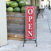 Creative Co-Op Bistro Metal Open / Closed 2-Sided Sign Holder