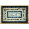 Earth Rugs Blueberry Vine Rectangle Blue Patch Area Rug