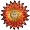 House Additions Oversized 82.5cm Metal Art Flower Wall Clock