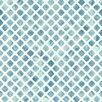 "York Wallcoverings Watercolors Artisan Tile 33' x 20.5"" Geometric Wallpaper"