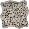 """Emser Tile Travertine 12"""" x 12"""" Pebble Mosaic in Silver"""