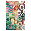 'Colored Circles' by Anna Blatman Painting Print on Wrapped Canvas