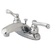 Kingston Brass Royale Double Handle Centerset Bathroom Faucet with Pop-Up Drain