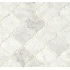 Bedrosians Marble Mosaic Tile in White Carrara