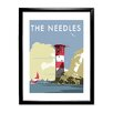 Star Editions The Needles, Isle of Wight by Dave Thompson Framed Vintage Advertisement