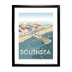 Star Editions Southsea, Portsmouth, from the air by Dave Thompson Framed Vintage Avertisement