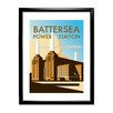 Star Editions Battersea Power Station by Dave Thompson Framed Vintage Advertisement