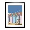 Star Editions Beach Huts by Dave Thompson Framed Graphic Art