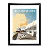 Star Editions The West Pier, Brighton by Dave Thompson Framed Vintage Advertisement