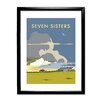 Star Editions The Seven Sisters, South Downs by Dave Thompson Framed Vintage Advertisement