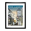 Star Editions The Lanes, Brighton by Dave Thompson Framed Vintage Advertisement