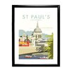 Star Editions St Paul's Cathedral, London by Dave Thompson Framed Vintage Advertisement