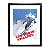 Star Editions Ski in Les Trois Vallées by Dave Thompson Framed Vintage Advertisement