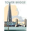 Star Editions Tower Bridge and The Shard, London by Dave Thompson Vintage Advertisement