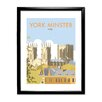 Star Editions York Minster by Dave Thompson Framed Vintage Advertisement