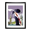 Star Editions London Art Deco by Dave Thompson Framed Graphic Art