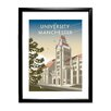 Star Editions The University of Manchester by Dave Thompson Framed Graphic Art Print