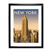 Star Editions New York Skyline by Dave Thompson Framed Vintage Advertisement