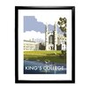 Star Editions King's College/Cambridge by Dave Thompson Framed Graphic Art Print