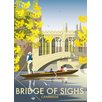 Star Editions Bridge of Sighs, Cambridge by Dave Thompson Vintage Advertisement