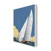 Star Editions Sailing Boat by Dave Thompson Graphic Art Wrapped on Canvas