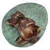 Design Toscano Spitting Lazy Frog on Lily Pad Cast Garden Statue