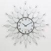 All Home Mirrored Petal Wall Clock