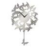 All Home Pendulum Butterflies Wall Clock