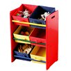 All Home Three Tier Coloured Storage Bin Unit