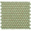 "Bader 0.8"" x 0.8"" Porcelain Mosaic Tile in Moss Green"