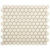 "New York Hexagon 0.875"" x 0.875"" Porcelain Unglazed Mosaic Tile in Textured Cream"