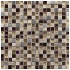 "EliteTile Sierra 0.625"" x 0.625"" Glass/Natural Stone/Metal Mosaic Tile in Aurora"