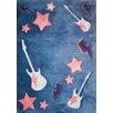 PAPILIO by Prado Rugs Punk Handmade Blue/Pink Area Rug