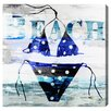 Oliver Gal 'Polka Dot Bikini' by Blakely Home Graphic Art Wrapped on Canvas