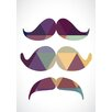 Lés papiers de Ninon Poster Color Mustache, Grafikdruck