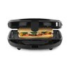 Tower 4 Slice Sandwich Toaster in Black