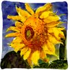 August Grove Landon Sunflowers Square Indoor/Outdoor Throw Pillow