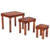 Ethnic Elements Kerala Sheesham 3 Piece Nest of Tables