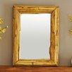 Strata Furniture Natural Edge Teak Wall Mirror