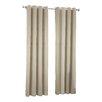 Sun Zero Groton Solid Semi-Sheer Thermal Grommet Single Curtain Panel
