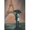 Fairmont Park Kissing in Paris Art Print on Canvas