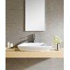 Fine Fixtures Modern Vitreous Modern Rectangular Vessel Bathroom Sink