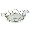 ChâteauChic 37cm Steel Fruit Bowl in Patina